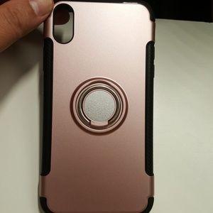 "Case for iphone XR 6.1"" goldrose-black new"